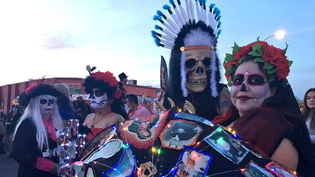Remembering together, thousands participated in the All Souls Procession Sunday.