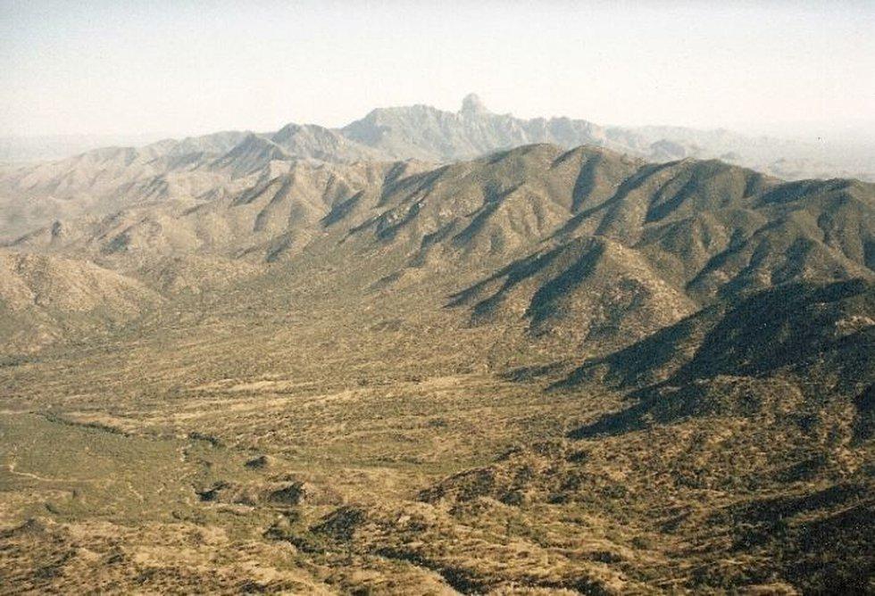 The Baboquivari Mountains, viewed from the Southwest Ridge of Kitt Peak (Source:...