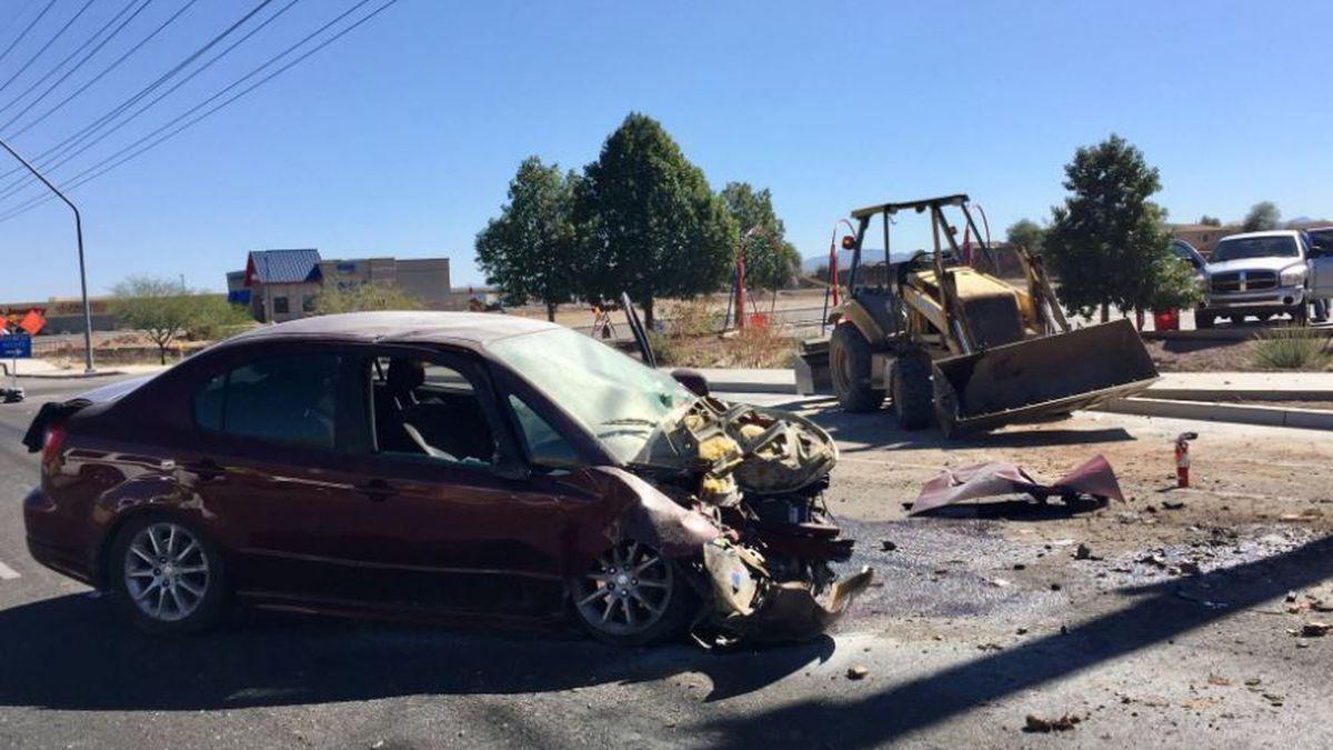 Crash on Valencia. (Source: Tucson Police Department)