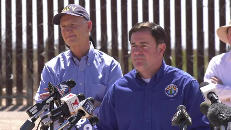 Arizona Gov. Doug Ducey with Sen. Rick Scott, R-Fla.