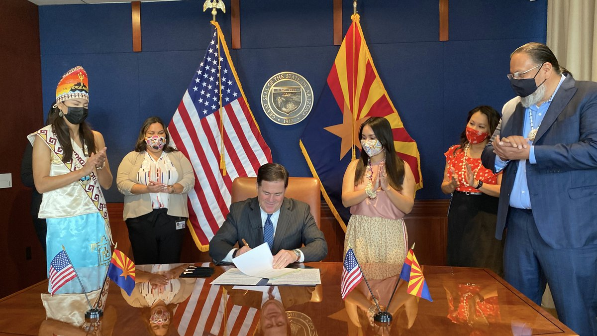 Ducey signed a law allowing tribal regalia at graduation ceremonies.