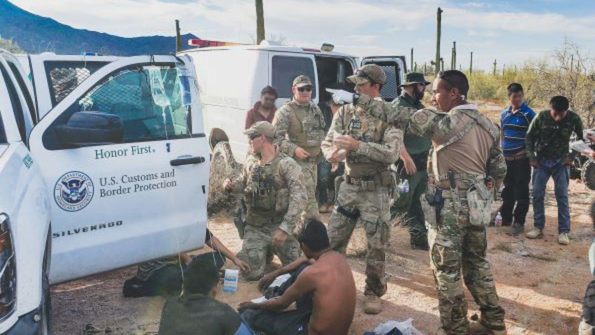 U.S. Border Patrol said 26 migrants were rescued near Gila Bend on Wednesday, June 2.