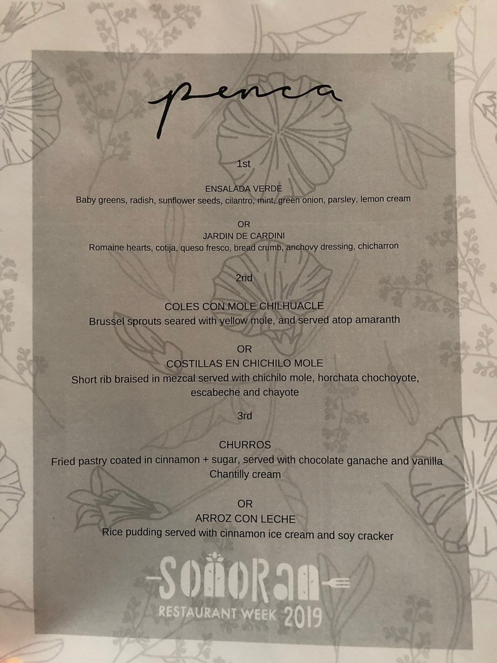 Penca executive chef David Solorzano has cooked up this special menu as part of the 10-day...