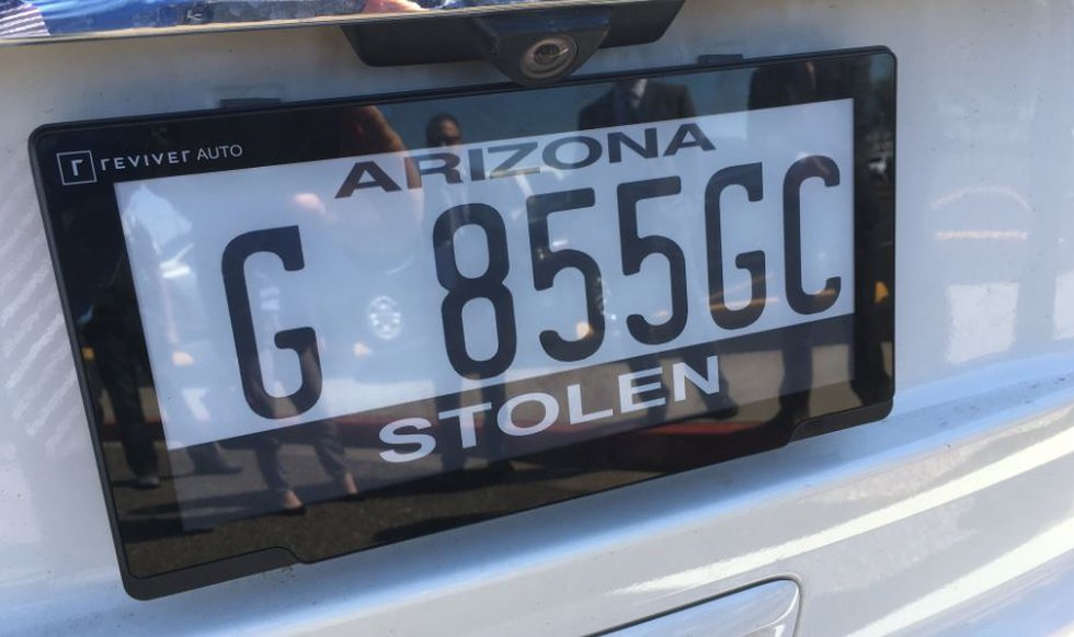 New digital plate option for Arizona. (Source: Arizona Department of Transportation, Motor...