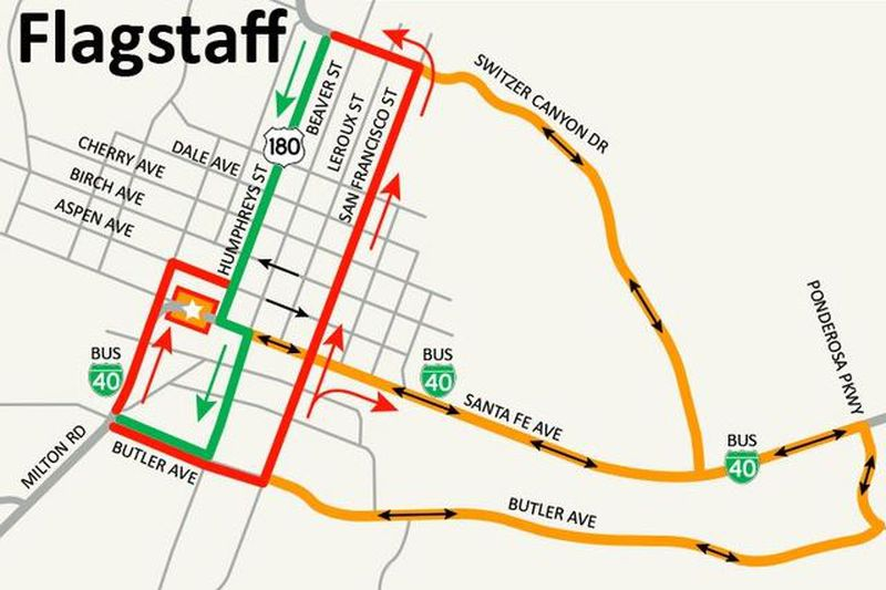 Drivers headed to Flagstaff should plan for a week-long closure of Route 66 in front of City...