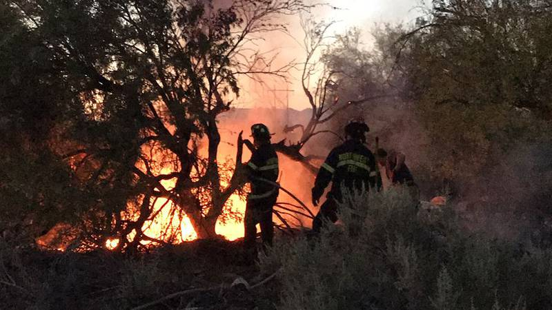 Brush fire on the northwest side (Source: KOLD News 13)