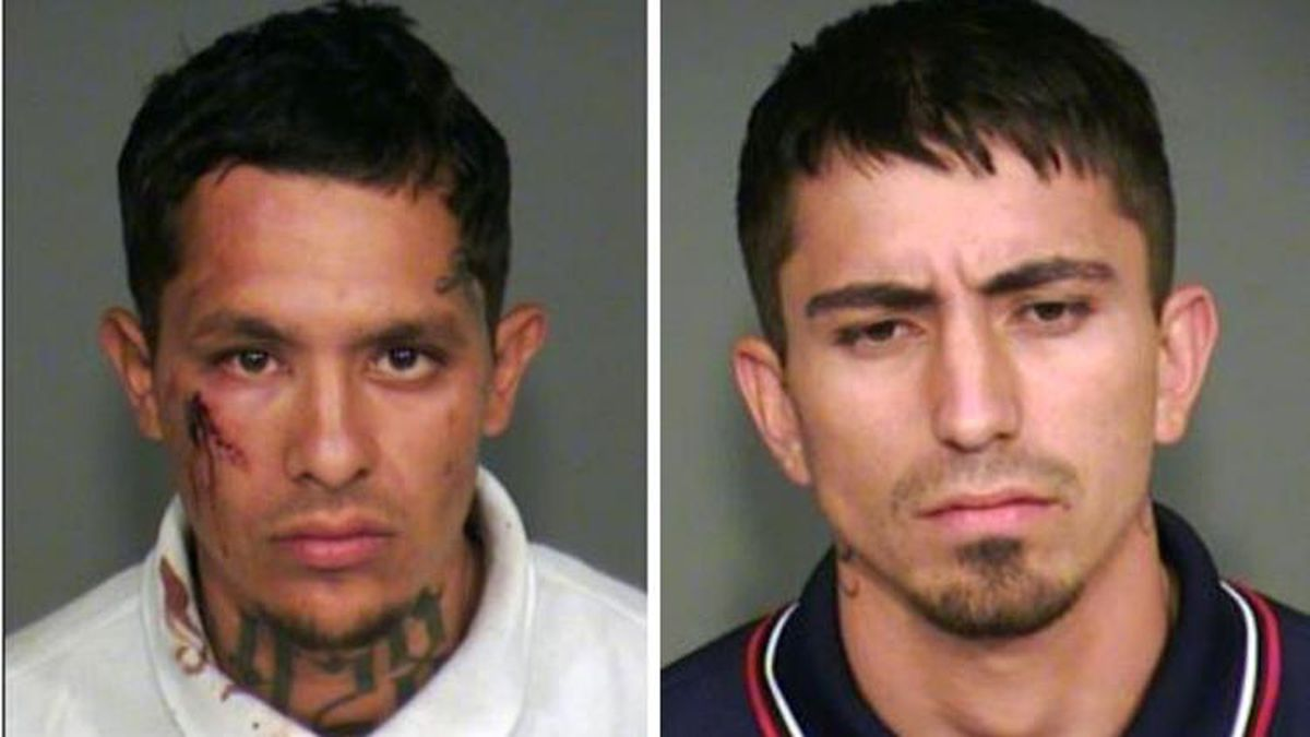 Mug shots for 24-year-old Roger Chavez Gil (Left), of Phoenix, and 23-year-old Christopher...
