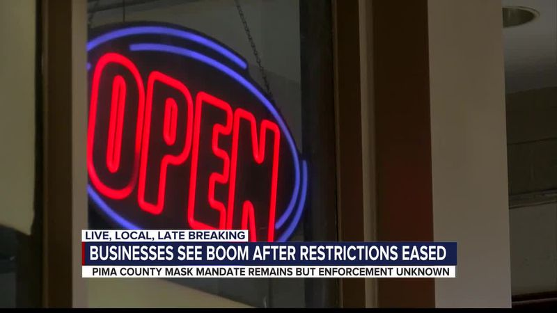 Business booming at mask optional establishments