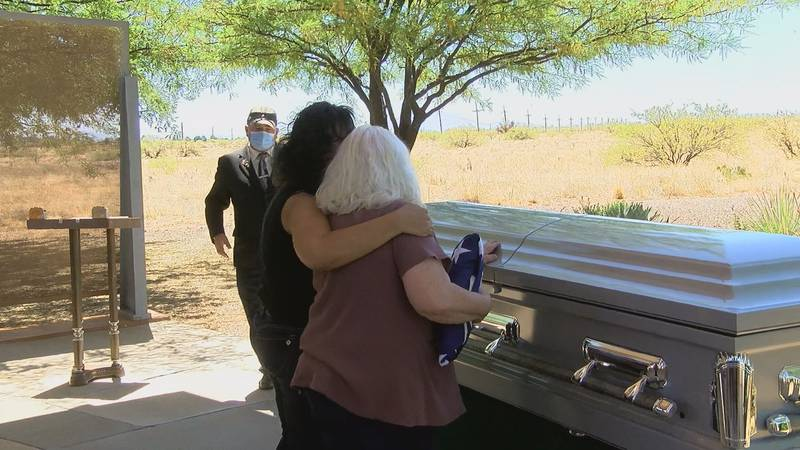 Family members of Hesler say both hello and goodbye to the hero they never met.