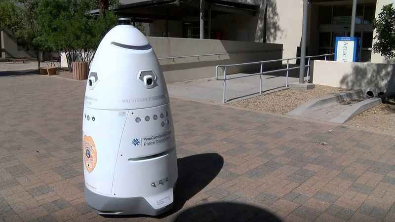 Robot takes on task of surveillance, acts as deterrent at Pima Community College