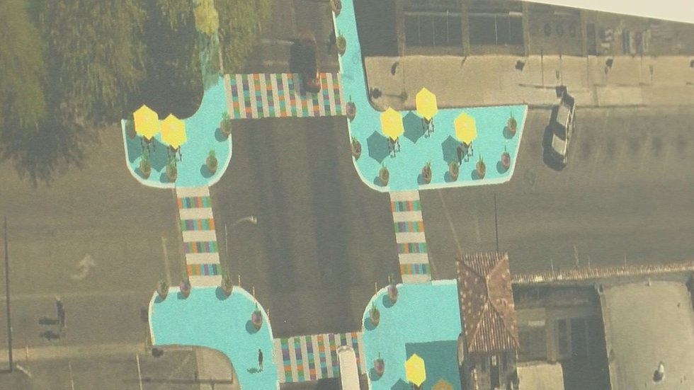 Colorful corners and crosswalks coming to downtown intersection (Source: Tucson News Now)