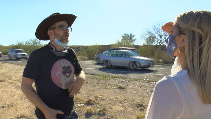 Two strangers jumped into action after witnessing a head on collision near Harrison and...