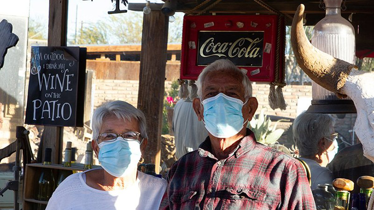 Louie and Delia Gradias at their home in Gadsden. They turned their house and backyard into a...