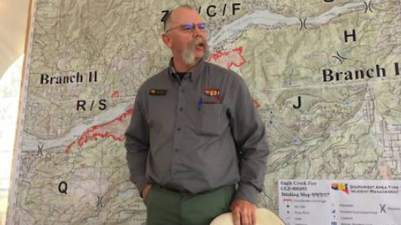 A new team has been brought in to oversee the firefighting efforts of the Bighorn Fire burning...
