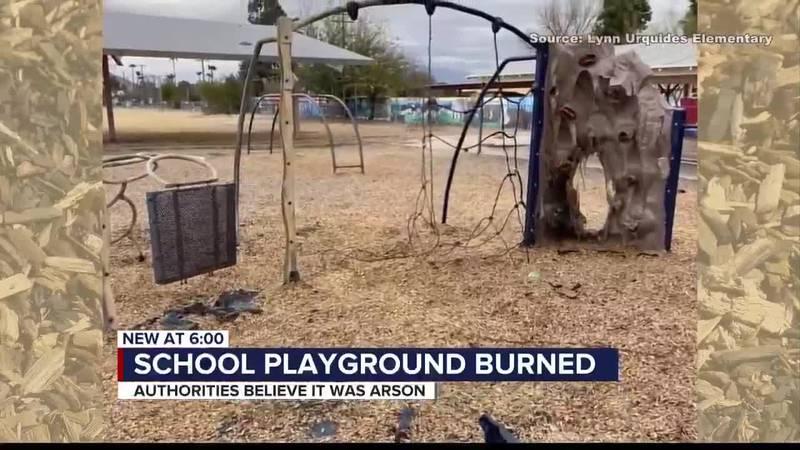 ELEMENTARY SCHOOL PLAYGROUND BURNED
