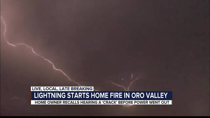 Lightning strikes at least three homes in Pima County
