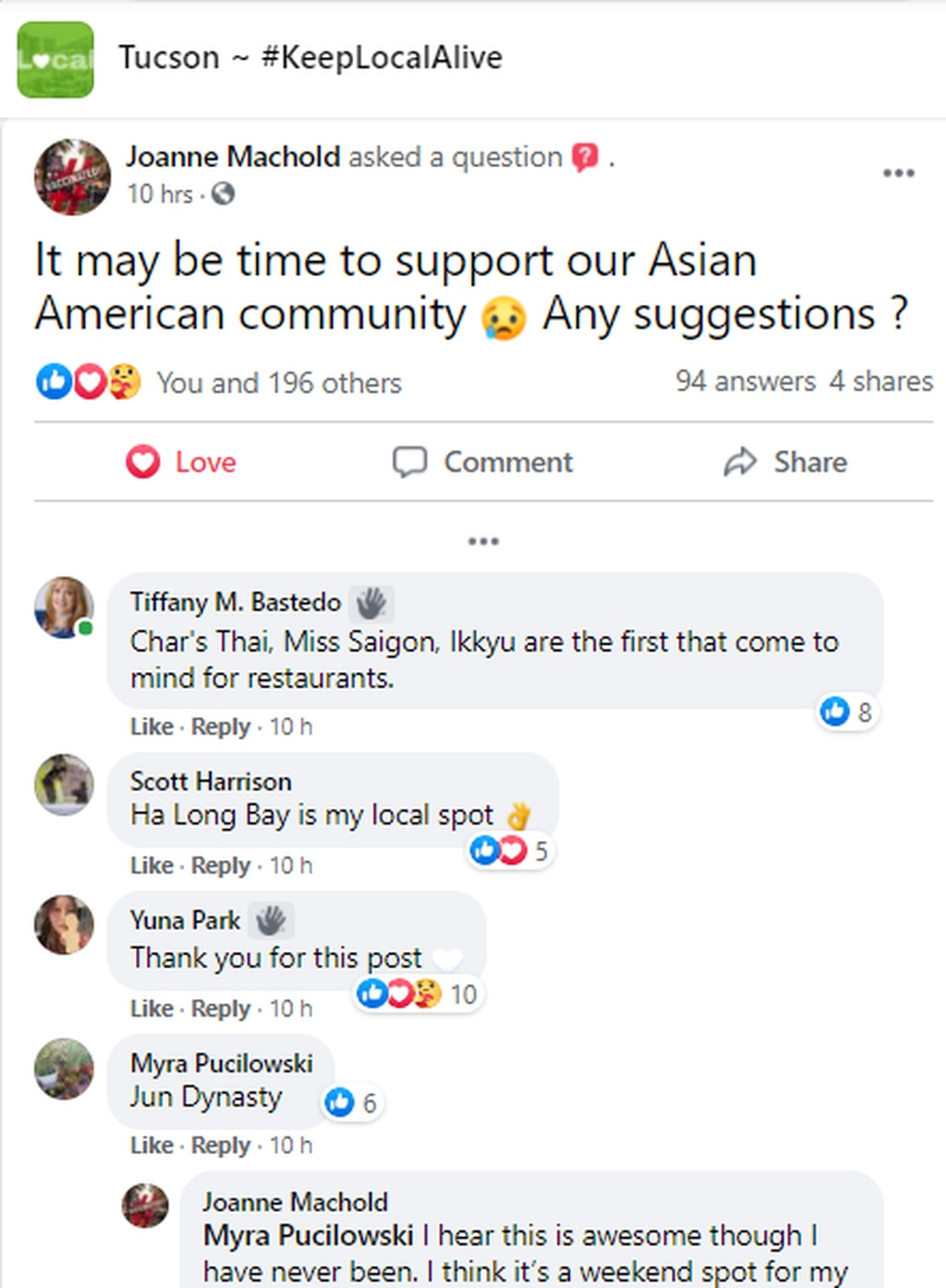 Post pushes to support Asian American businesses