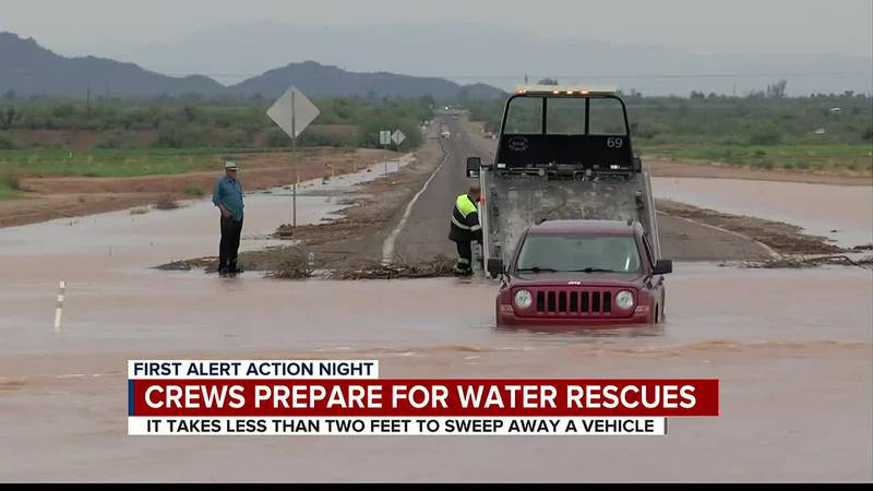 Local fire agencies prepare for swift-water rescues