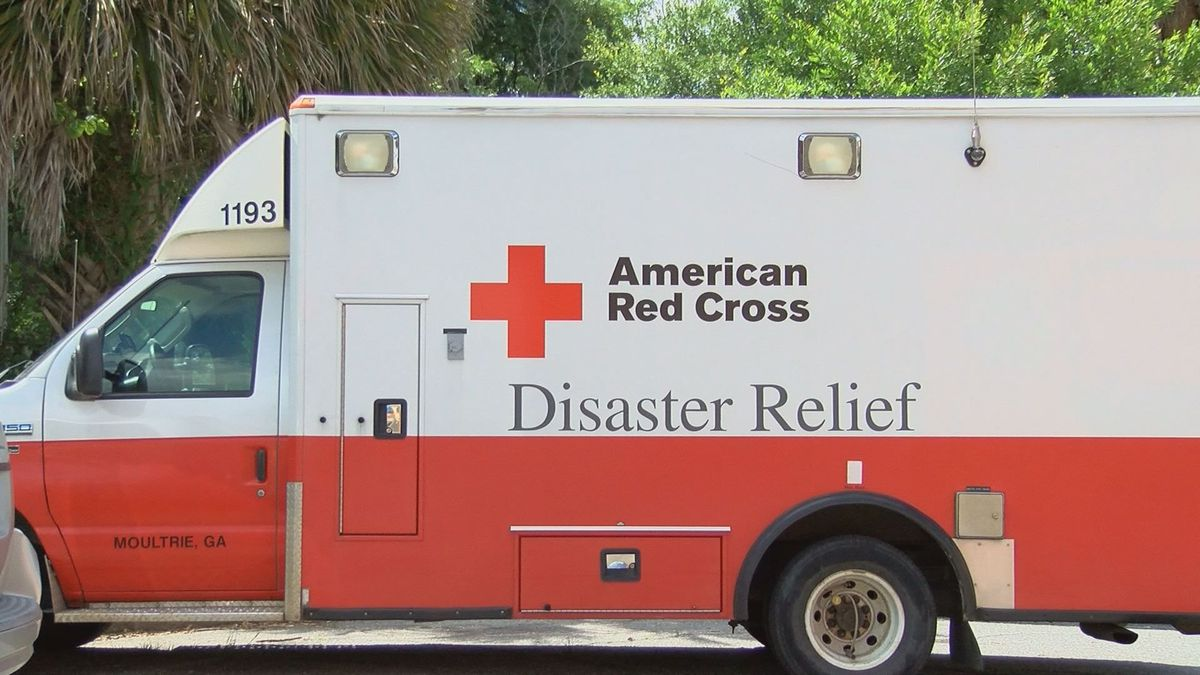 Red Cross volunteers and staff provide relief and support to those in crisis.