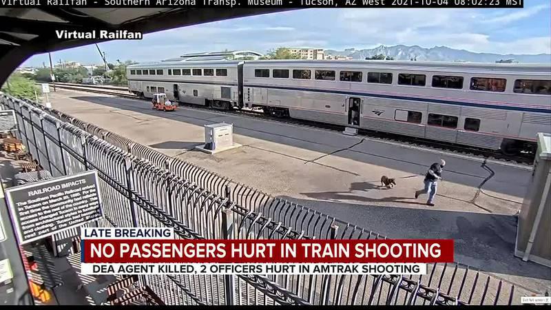 No passengers hurt in train shooting