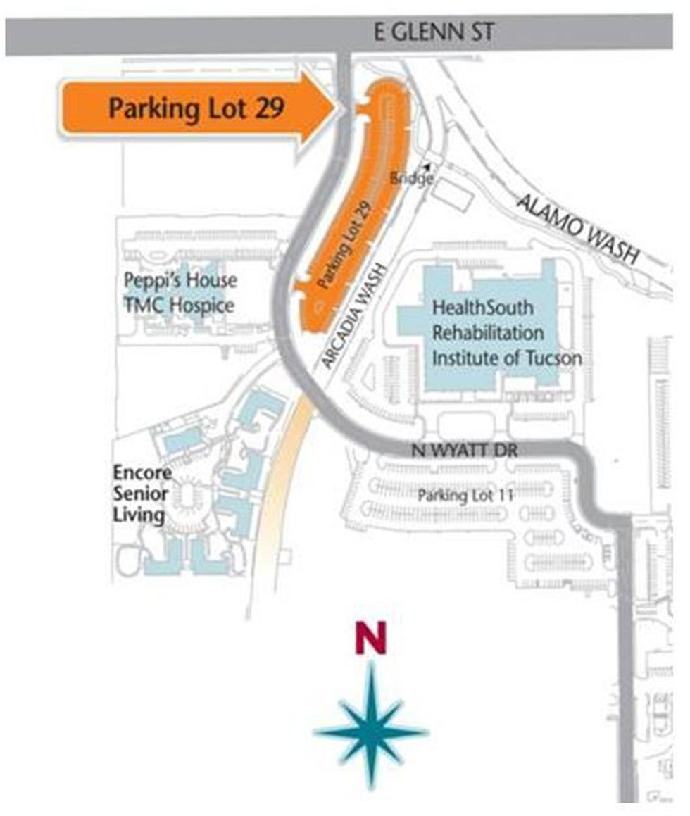 Map for car seat recycling event (Source: Tucson Medical Center)