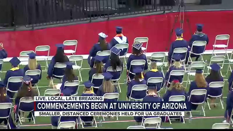 Uarizona holds in-person graduation
