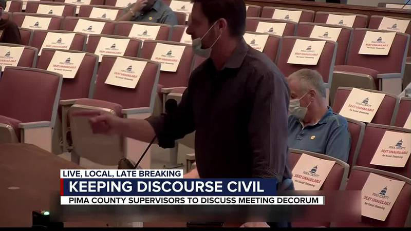 Pima County supervisors to discuss meeting decorum