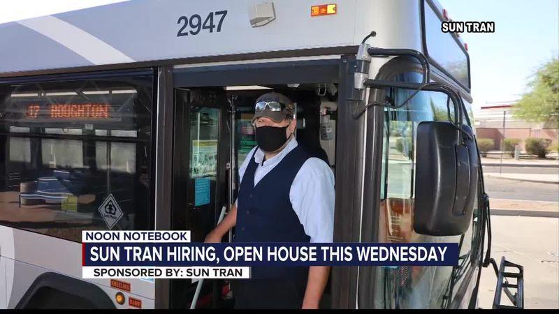 NOON NOTEBOOK: Sun Tran hosting open house, hiring event Wednesday