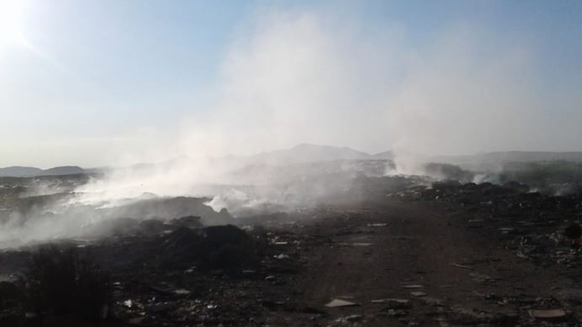 Tire fire under control (Source: Cochise County Sheriff's Office)