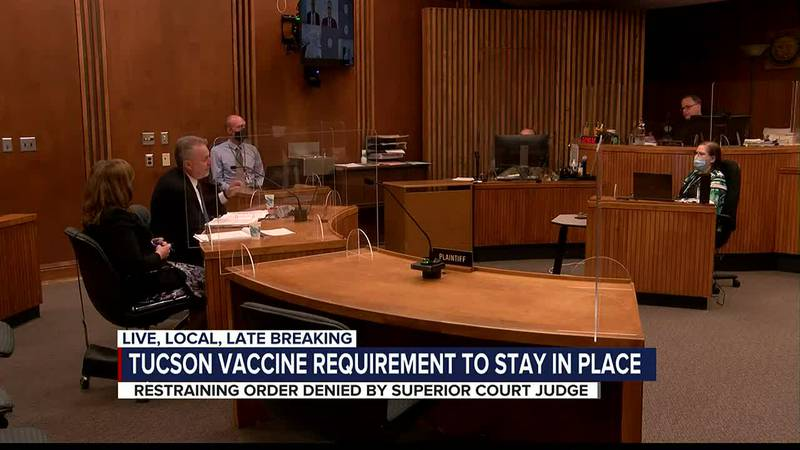 Judge denies restraining order to delay City of Tucson's vaccine mandate