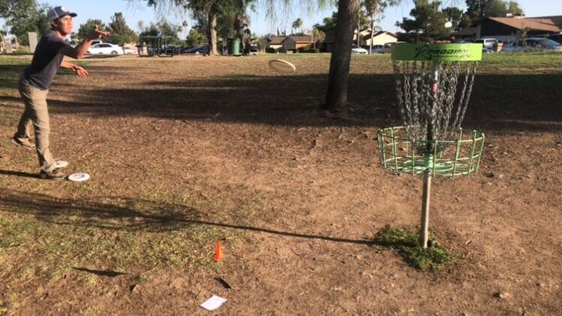 Benjamin Loveallo, a member of the Desert Flyers, is among the disc golfers who like to...