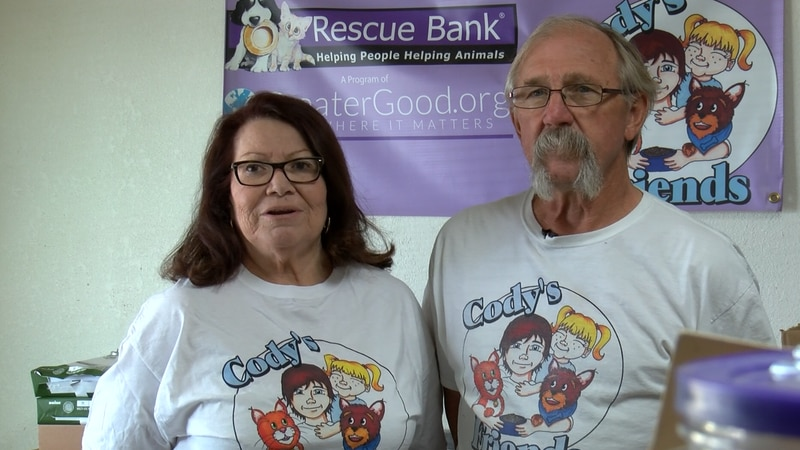 The couple will skip vacations to spend their free time packing, handing out and even...