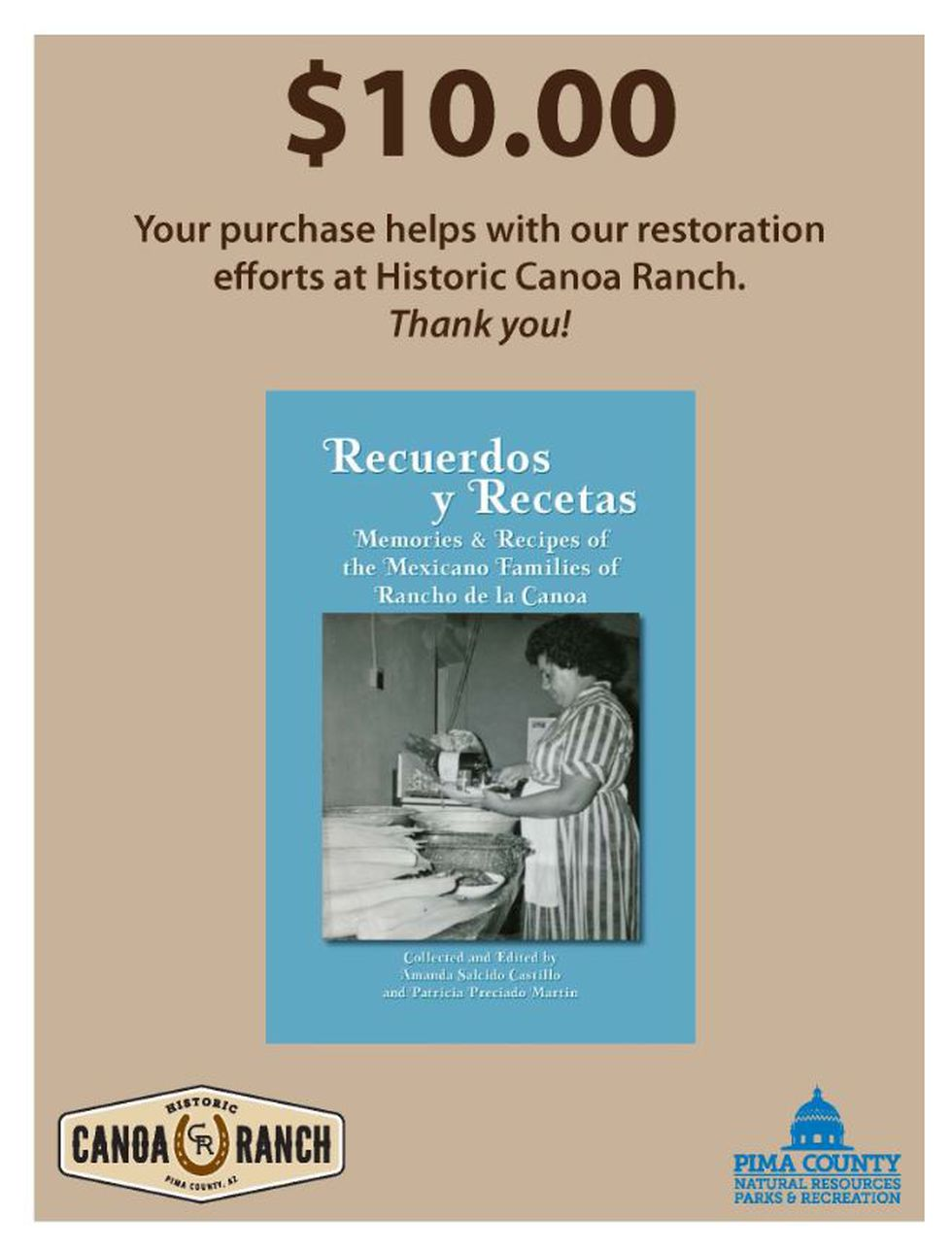 Canoa Ranch cookbook project (Source: Pima County Natural Resources, Parks and Recreation)