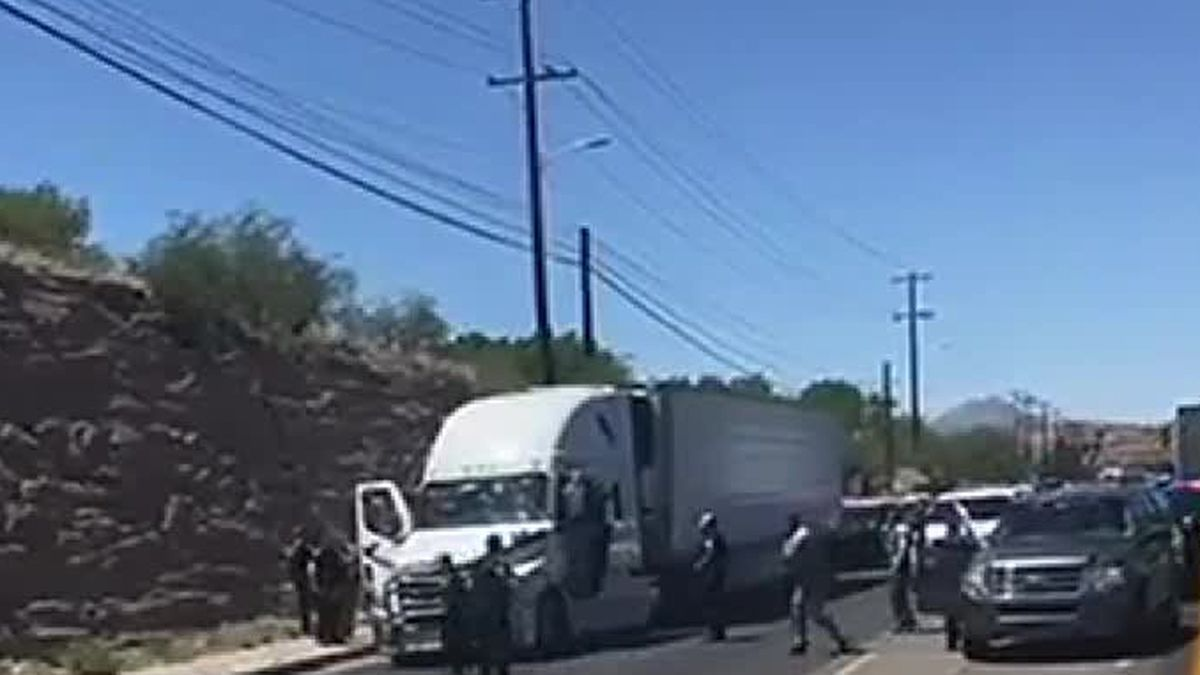 A police pursuit involving an 18-wheeler ended with a suspect dead after shots were fired in...