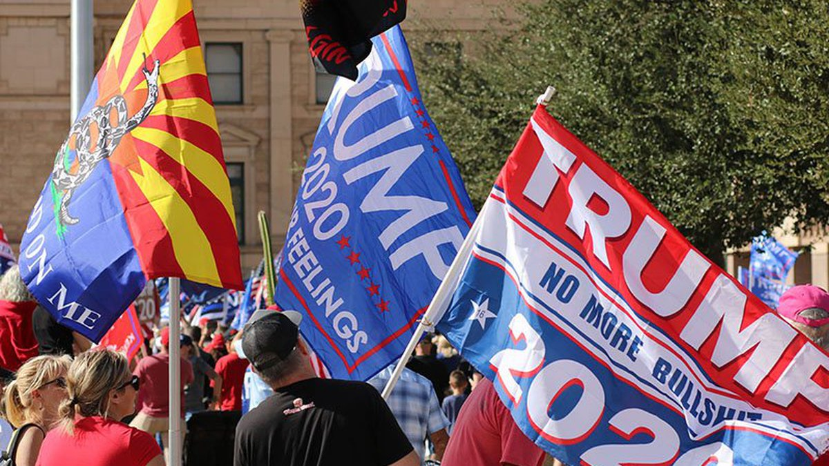 Then-President Donald Trump's supporters rallied at the Statehouse in November to protest the...