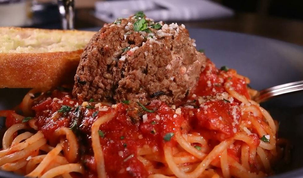 Spaghetti and Meatball dish served at Bellissimo at the Casino Del Sol.