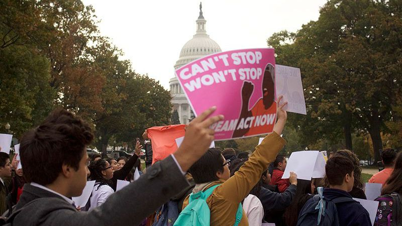 Thousands came to Washington in November 2017 to protest the Trump administration's plan to do...
