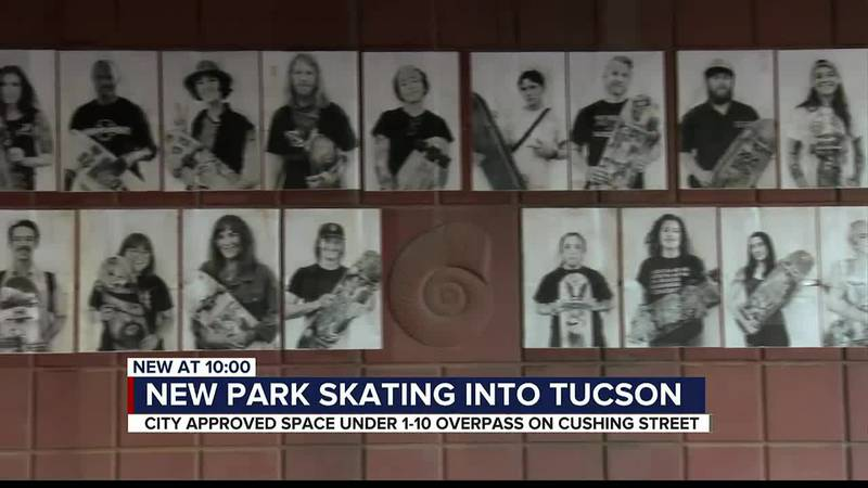 Underpass portraits bring attention to first-of-its-kind skatepark in Arizona