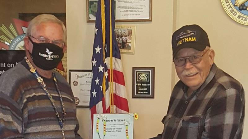 For the past 8 years David Falker (left) dedicated his time to giving veterans at Emblem...