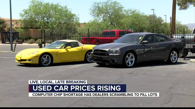 Many new car dealers are buying used cars to fill their lots.