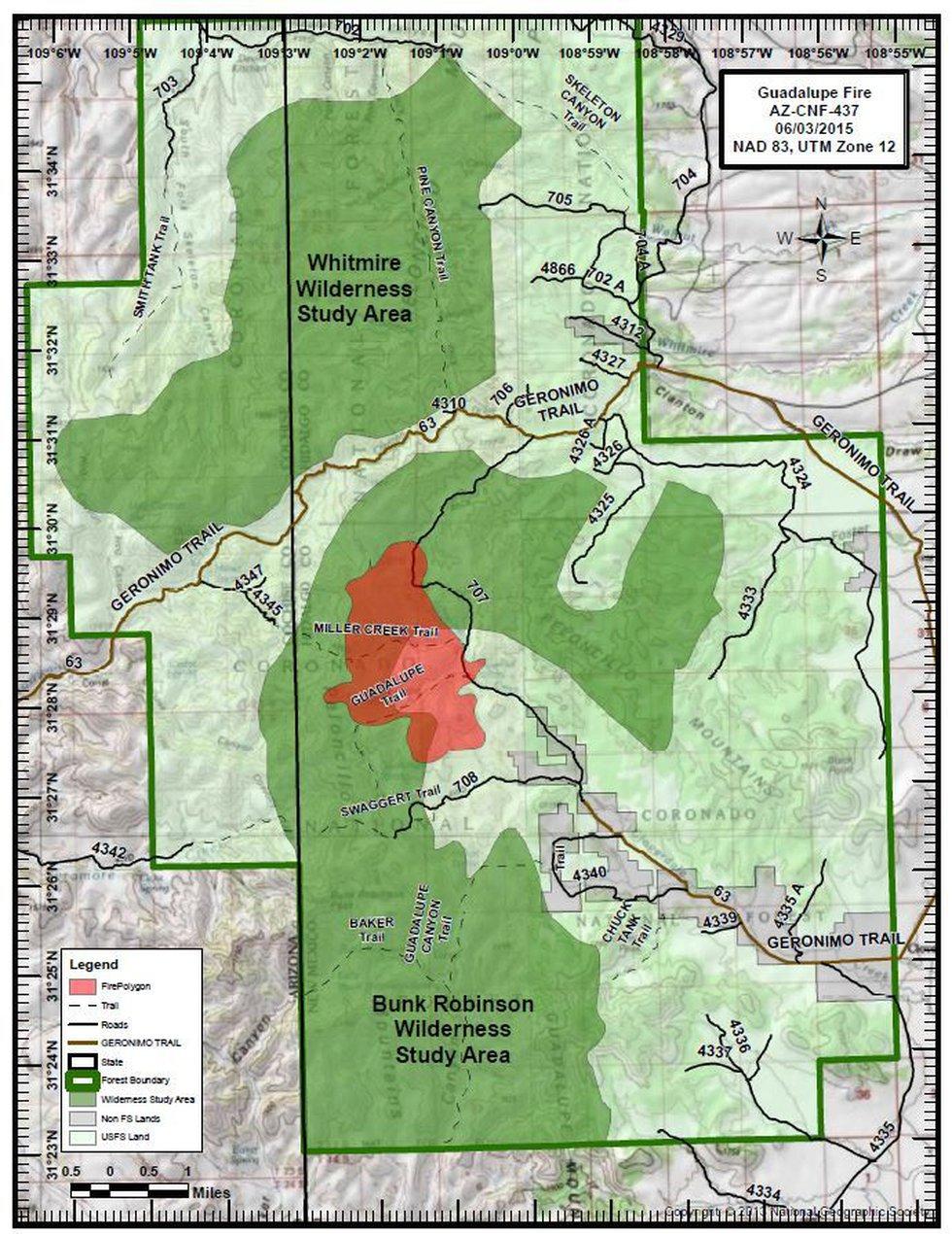 Guadalupe fire (Source: U.S. Forest Service)