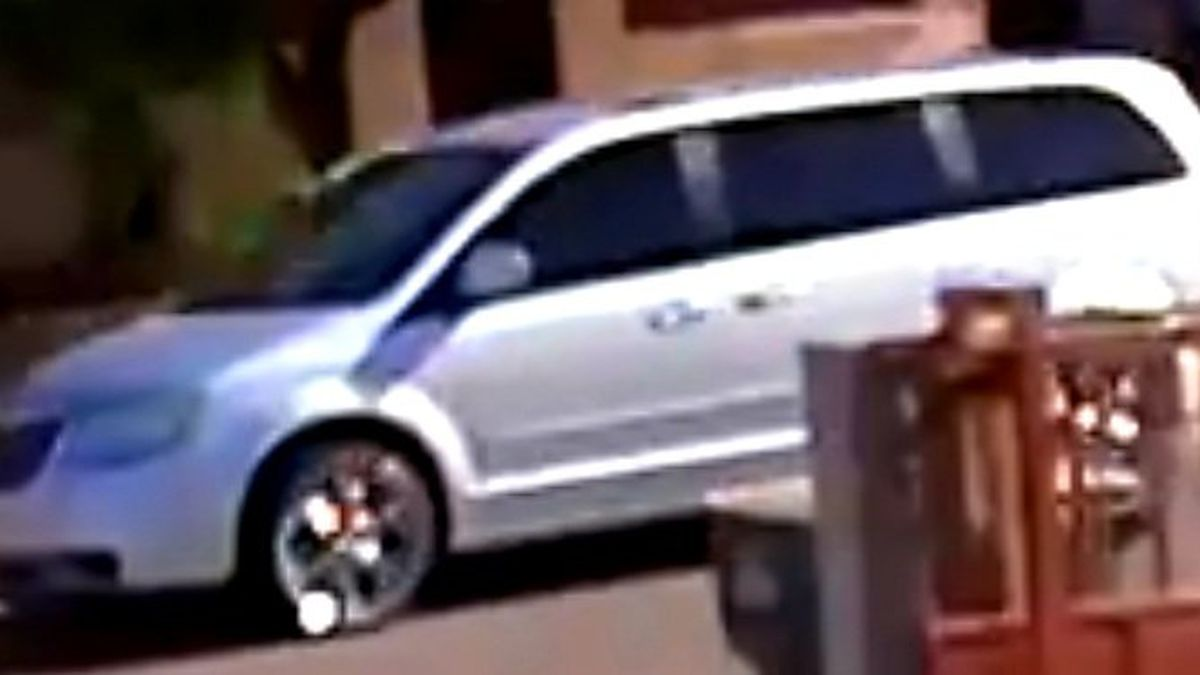 Police say the vehicle could be a 2009-2015 Chrysler minivan with chrome wheels.