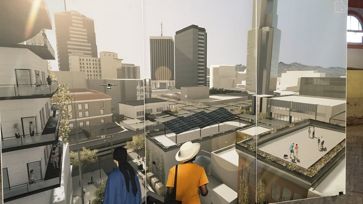 Students shared concept designs of what Tucson could look like in 2050 (Source: Tucson News Now).